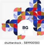 vector geometric circle... | Shutterstock .eps vector #589900583