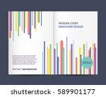 modern brochure design with...   Shutterstock .eps vector #589901177