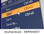 software menu item with open... | Shutterstock . vector #589904057