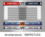 scoreboard broadcast graphic...   Shutterstock .eps vector #589907153