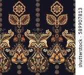indian seamless pattern.... | Shutterstock . vector #589907813