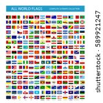 all vector world country flags. ... | Shutterstock .eps vector #589921247