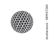 golf ball icon in black on a... | Shutterstock .eps vector #589927283