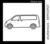 minibus car contour | Shutterstock .eps vector #589933937