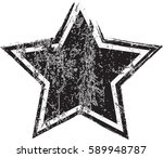 grunge star background.vector... | Shutterstock .eps vector #589948787