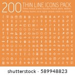 set of thin line icons... | Shutterstock .eps vector #589948823