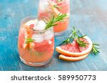 grapefruit and rosemary gin... | Shutterstock . vector #589950773