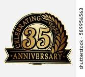 35 years anniversary logo... | Shutterstock .eps vector #589956563