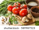 ingredients for cooking sauce.... | Shutterstock . vector #589987523