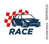car racing logo template  ... | Shutterstock .eps vector #589990523