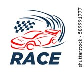 car racing logo template  ... | Shutterstock .eps vector #589991777