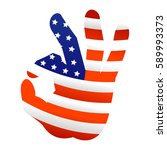 ok usa hand gesture icon flat...   Shutterstock . vector #589993373