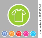 tshirt t shirt tee icon flat...   Shutterstock . vector #589993847