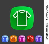 tshirt t shirt tee icon flat...   Shutterstock . vector #589993907
