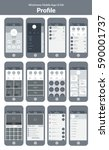 wireframe ui kit for mobile... | Shutterstock .eps vector #590001737