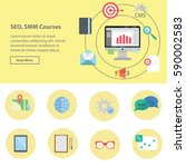 banner of smm  seo and smo... | Shutterstock .eps vector #590002583