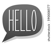 hello  vector greeting... | Shutterstock .eps vector #590008577