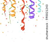bright colorful vector confetti ... | Shutterstock .eps vector #590021243