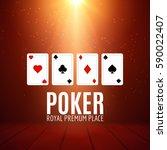 shining casino banner poster.... | Shutterstock .eps vector #590022407