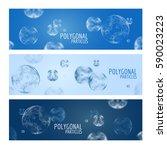 3d vector digital wireframe... | Shutterstock .eps vector #590023223