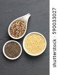 tricolor quinoa  expanded white ... | Shutterstock . vector #590033027