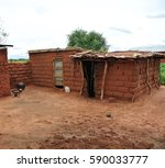A Mud Brick House In Rural...
