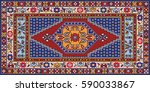 colorful oriental mosaic... | Shutterstock .eps vector #590033867