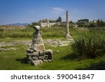 temple of artemis ruins  one of ... | Shutterstock . vector #590041847