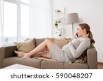 pregnancy  motherhood ... | Shutterstock . vector #590048207