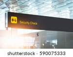 security check airport sign | Shutterstock . vector #590075333