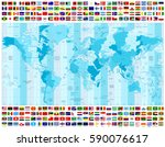 world map time zones and all... | Shutterstock .eps vector #590076617
