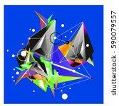 vector of triangle fractal...   Shutterstock .eps vector #590079557