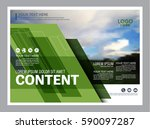 greenery brochure layout banner ... | Shutterstock .eps vector #590097287