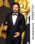 casey affleck at the 89th... | Shutterstock . vector #590097707