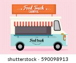 food truck carnival template... | Shutterstock .eps vector #590098913