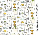 seamless pattern hand drawn... | Shutterstock .eps vector #590100383