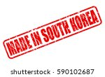 made in south korea red stamp...   Shutterstock .eps vector #590102687