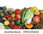 mix of fresh vegetables.concept ... | Shutterstock . vector #590105603