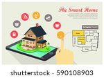 the smart home   internet of...   Shutterstock .eps vector #590108903