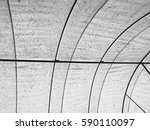 the dome roof with canvas curve ... | Shutterstock . vector #590110097