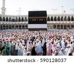 mecca  saudi arabia.   november ... | Shutterstock . vector #590128037