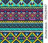 fabric pattern. tribal ornament....   Shutterstock .eps vector #590129447
