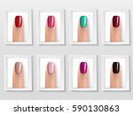 nail colors pallet. fingers set....   Shutterstock .eps vector #590130863