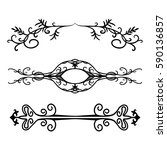 set of intricate design element ... | Shutterstock .eps vector #590136857