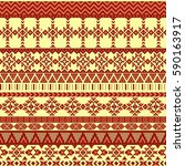 ethnic seamless pattern with... | Shutterstock .eps vector #590163917