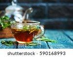 rosemary tea | Shutterstock . vector #590168993