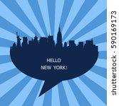 hello new york   Shutterstock .eps vector #590169173