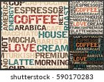 coffee words background  coffee ... | Shutterstock .eps vector #590170283