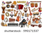 vector illustration of sticker... | Shutterstock .eps vector #590171537