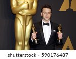 justin hurwitz at the 89th... | Shutterstock . vector #590176487